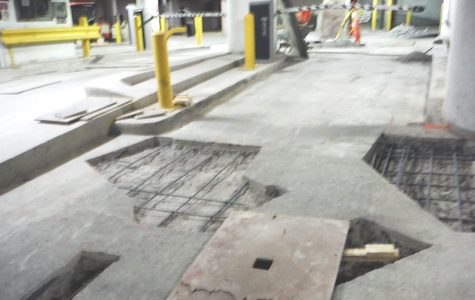 concrete floor in repair