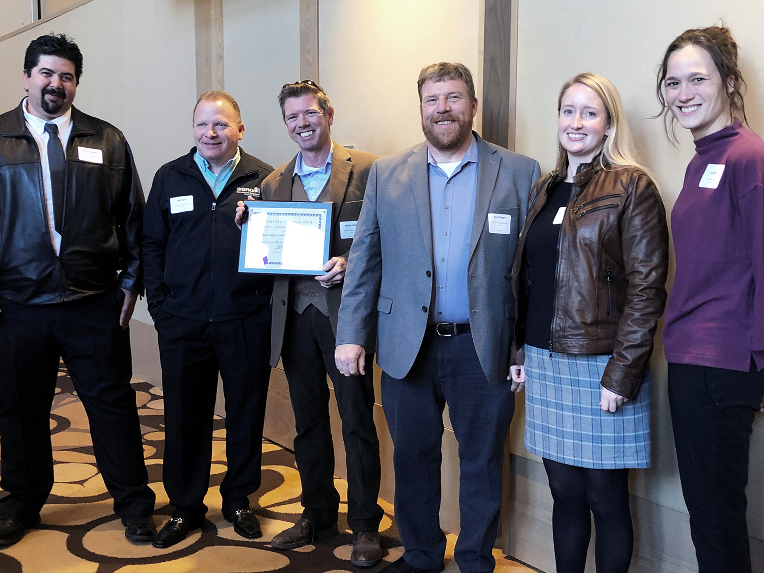 SSRG team accepts Merit Award at CPA Preservation Awards