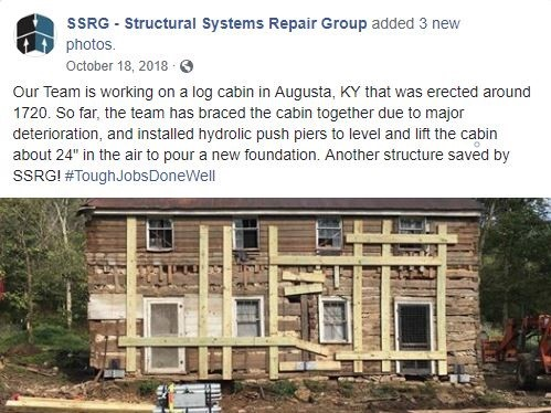 Most popular Facebook post about stabilizing cabin