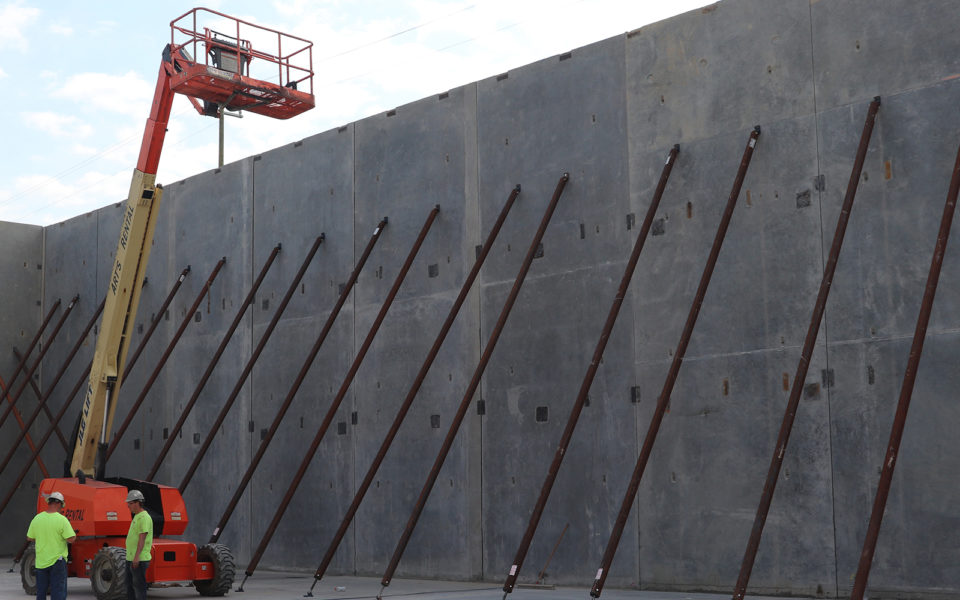 large concrete wall using tilt-up construction