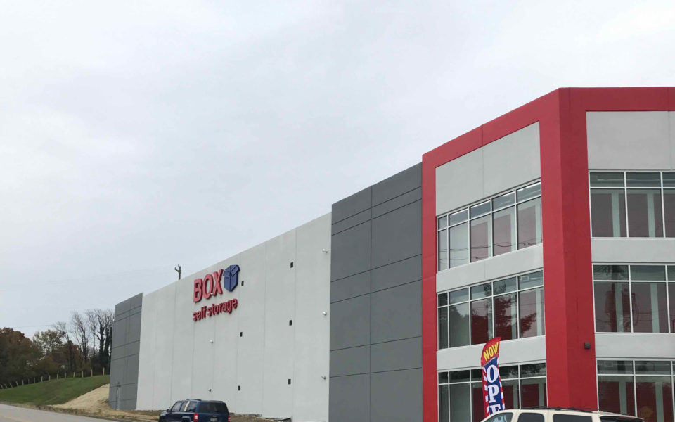 exterior of Box Self Storage