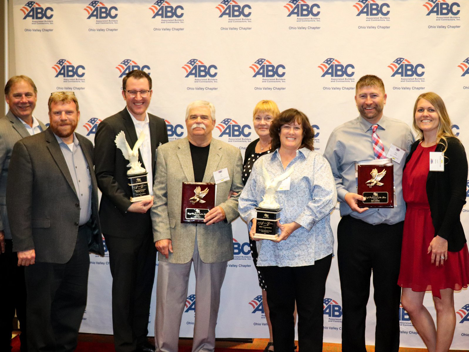 SSRG team and HGC team pose with ABC Ohio Valley awards