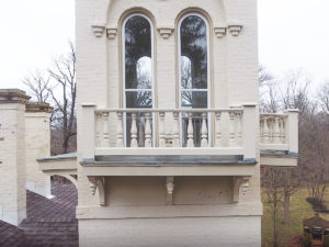 Close up of balcony at Promont House
