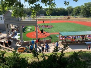 Final details on Bellevue Park renovations with Reds Community Fund 2019