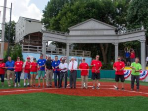 Ribbon cutting at Ross Park