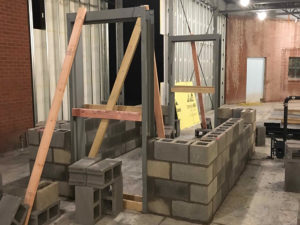 Masonry at Warren County Court project