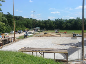 Bellevue baseball field under repairs