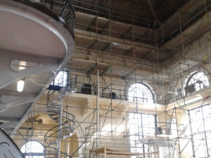 Interior of Pumping Station with scaffolding