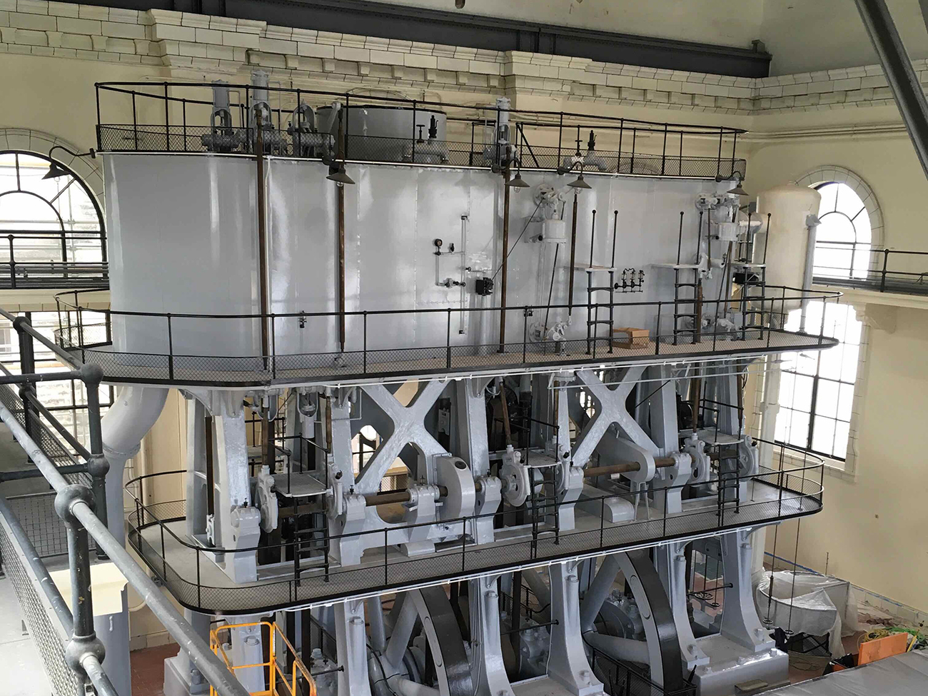 Interior of steam pumps at Louisville Pumping Station