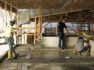 Concrete pour at Tonken House