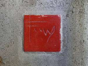 Close up of Frank Lloyd Wright tile