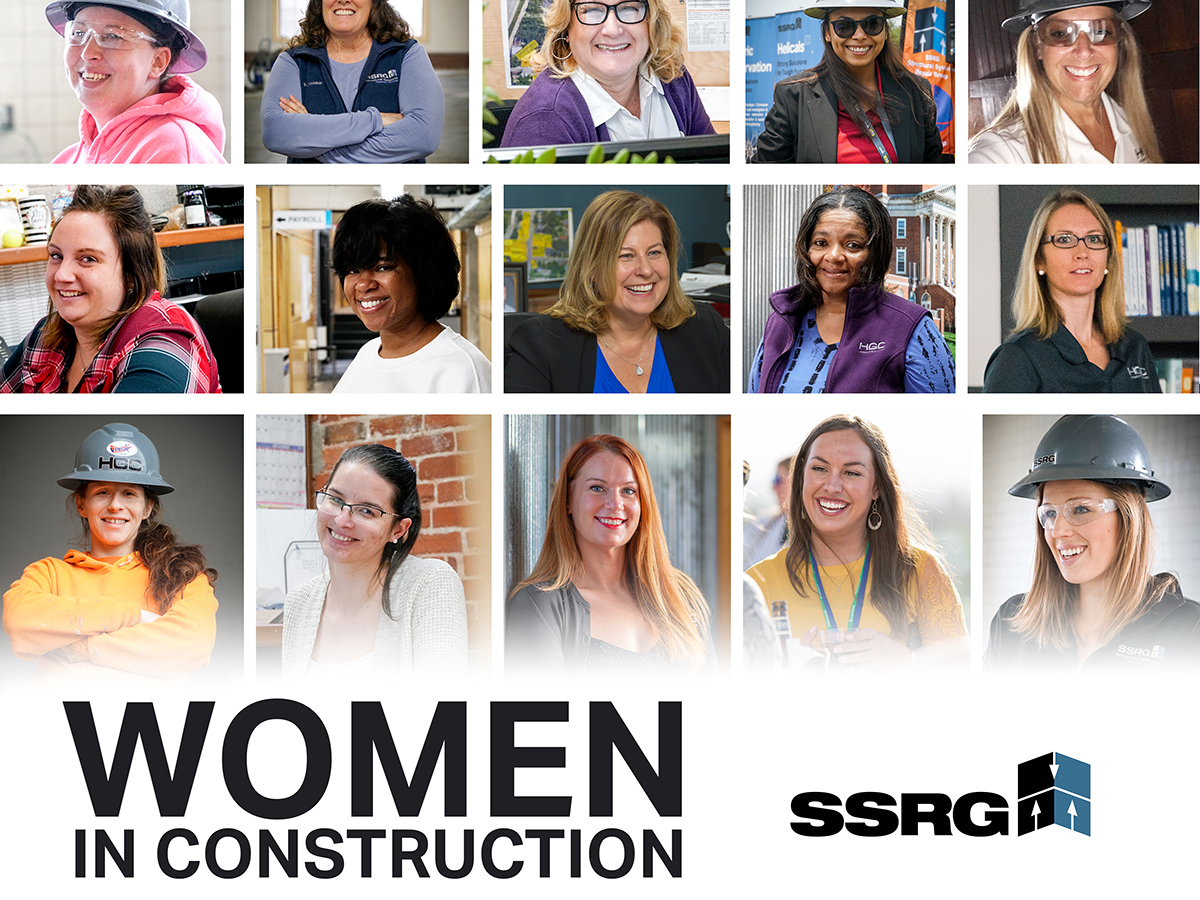 Collage of women in construction for WIC week 2020