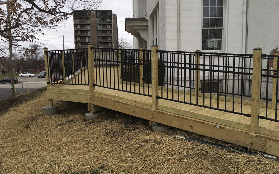 New accessible ramp for historic Stowe House