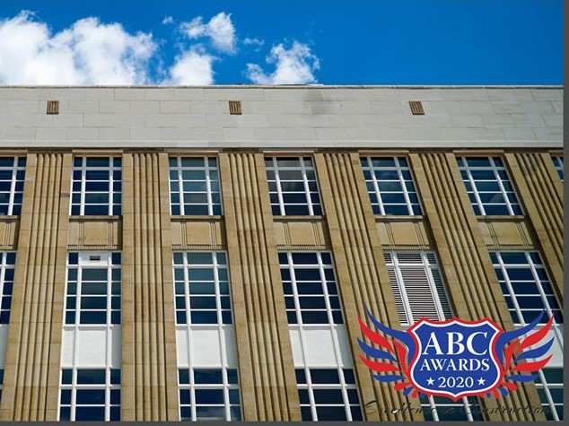 exterior of USPS with ABC Award