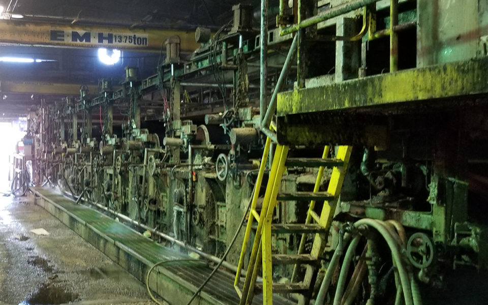 machinery at Cincinnati Paperboard recycling plant