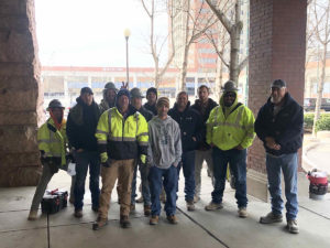 Training team for SSRG repairs at Indianapolis Union Station