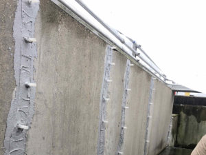 epoxy crack injections at Taylor Creek wastewater treatment plant