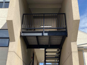 repaired breezeway at NKU Norse Hall