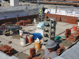 masonry work for second-story addition
